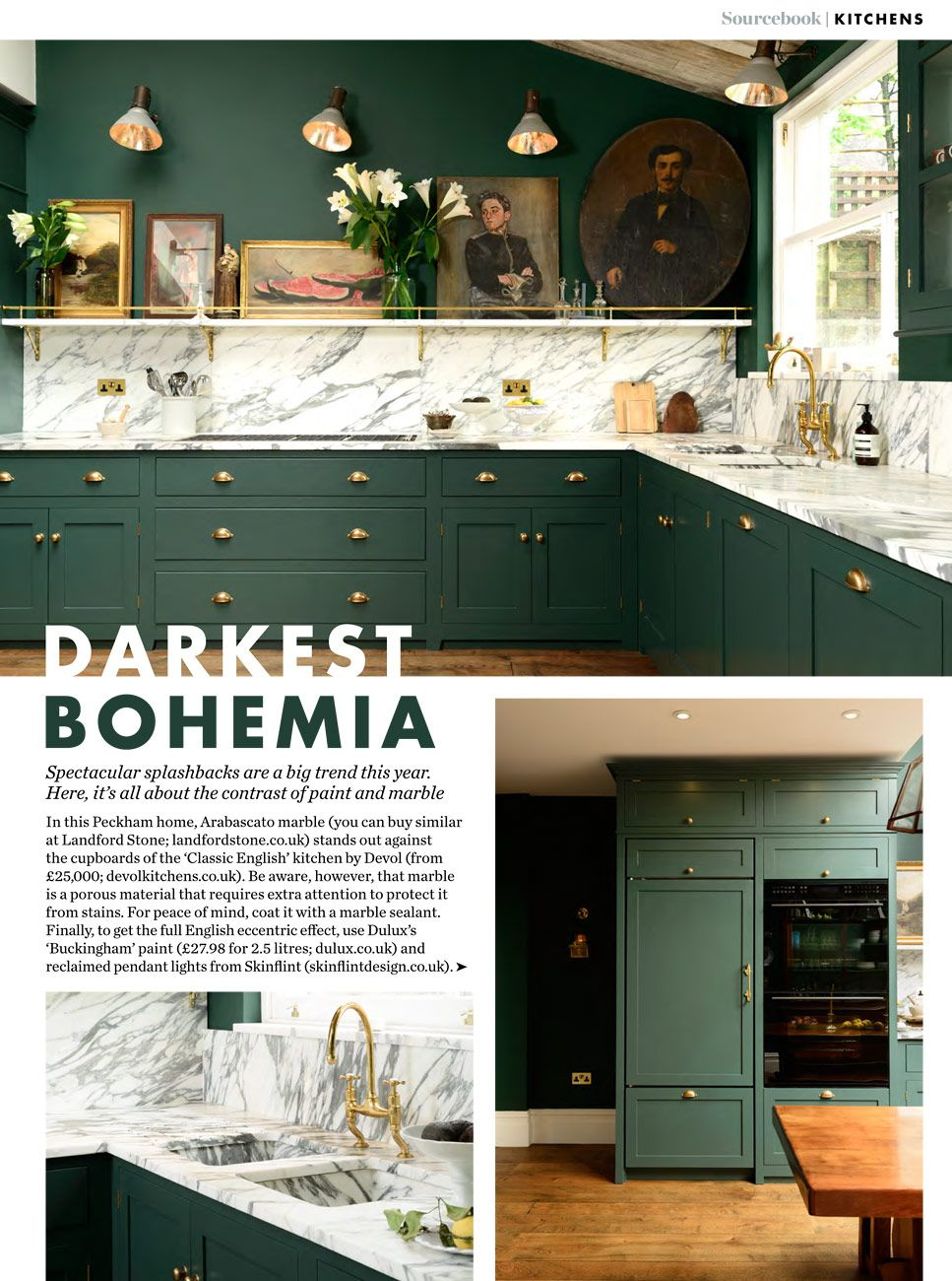 The Peckham Rye Classic Kitchen was featured in ELLE Deco
