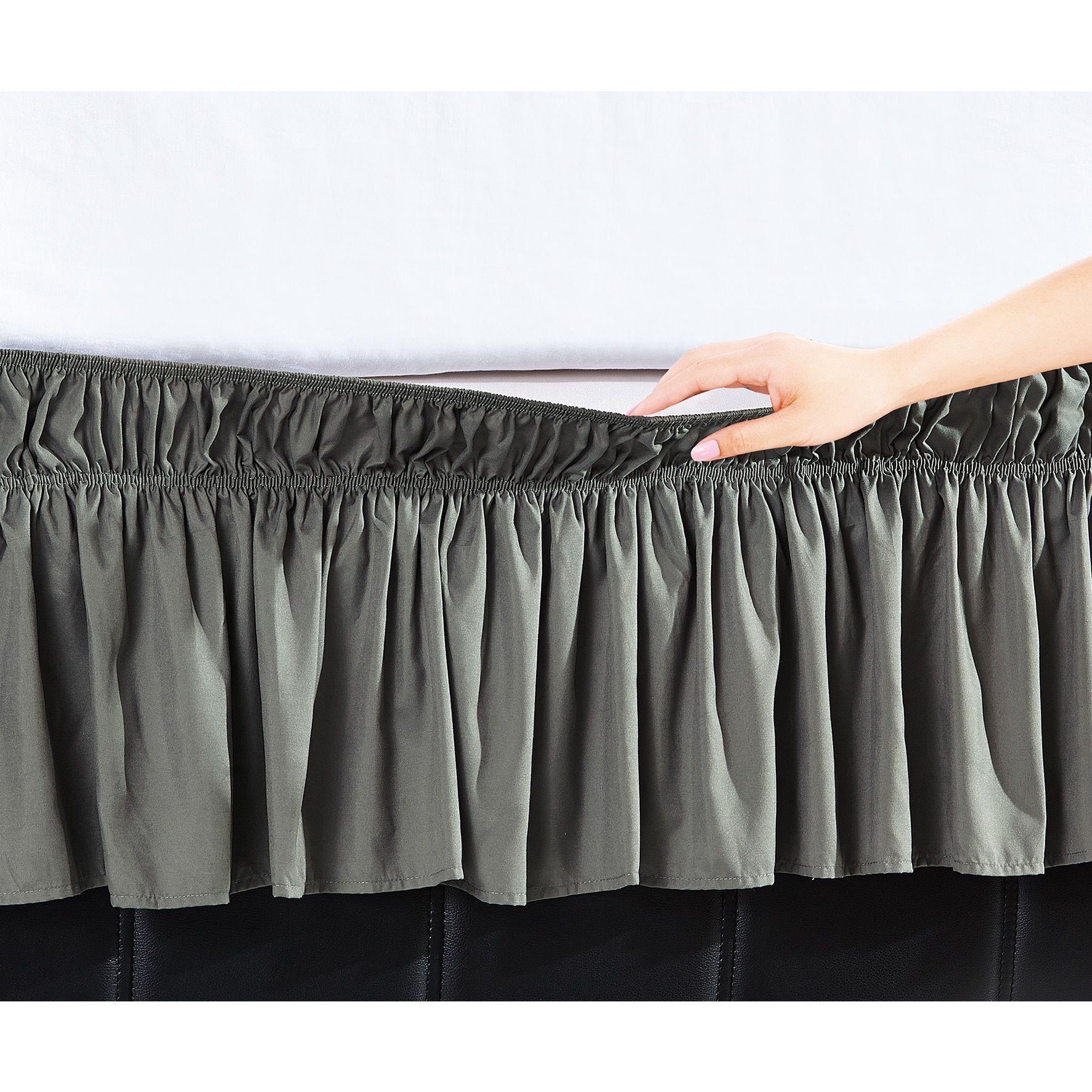 Orient De Moocci Easy Wrap Platform-Free 16-inch Drop Bed Skirt ...