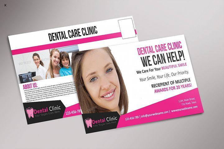 Dental care post card dental care dental cosmetic