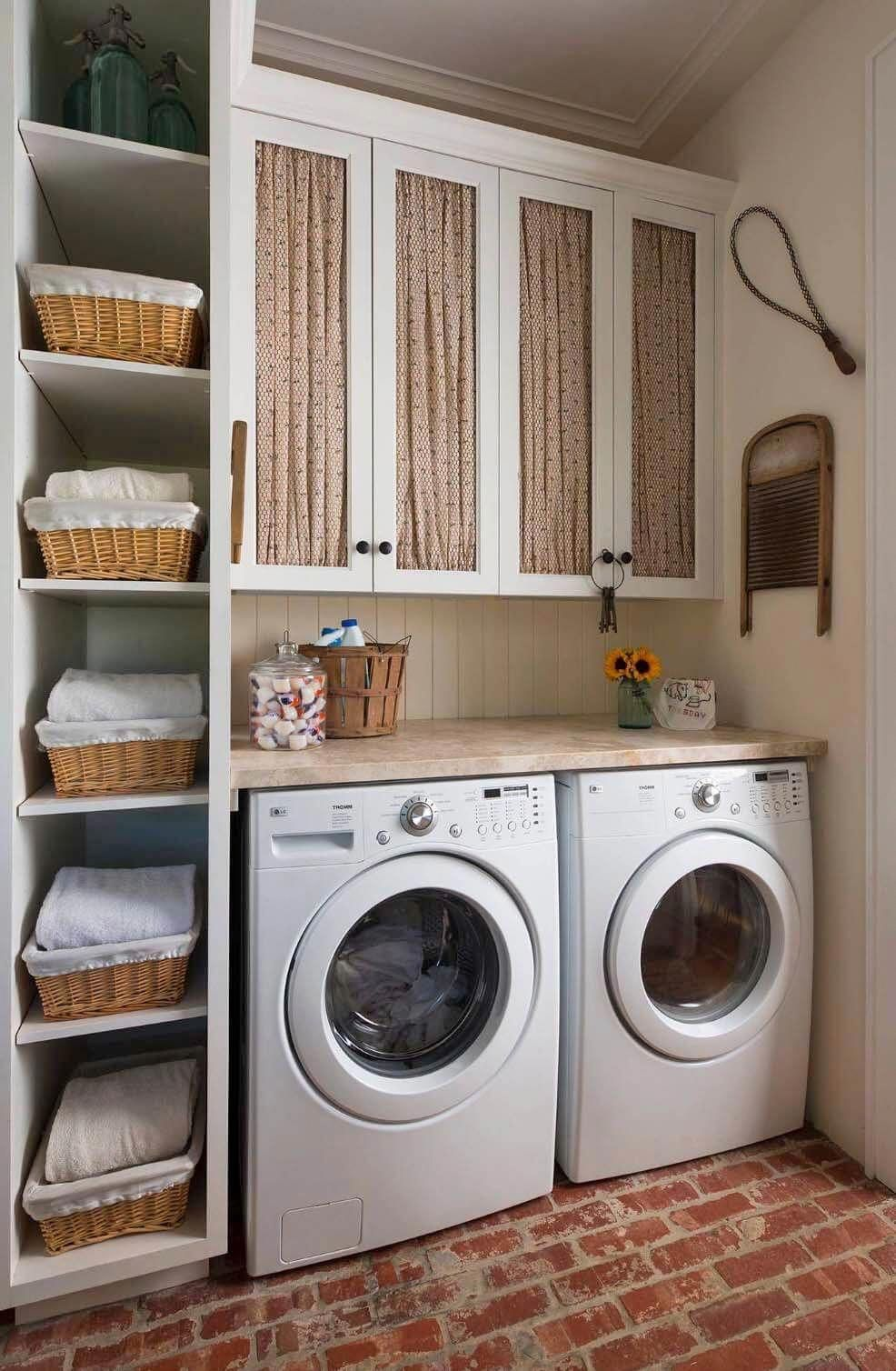 Old Fashioned Meets Modern Laundry Room Design