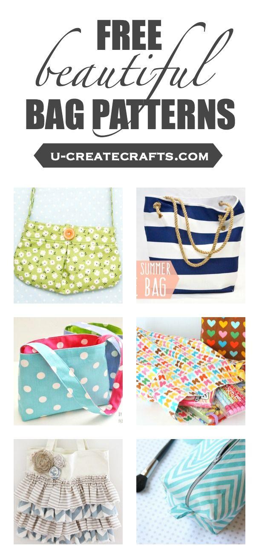Free Beautiful Bag Patterns | DIY | Pinterest | Costura, Bolsos y ...