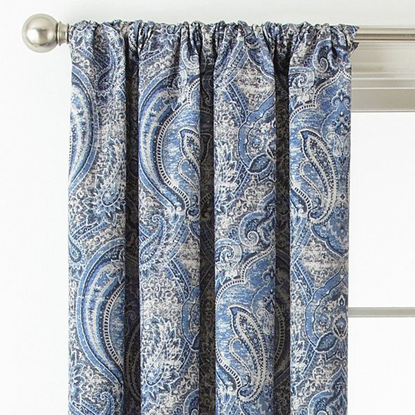 Royal Velvet Florence Room Darkening Rod-Pocket Back-Tab Curtain ...