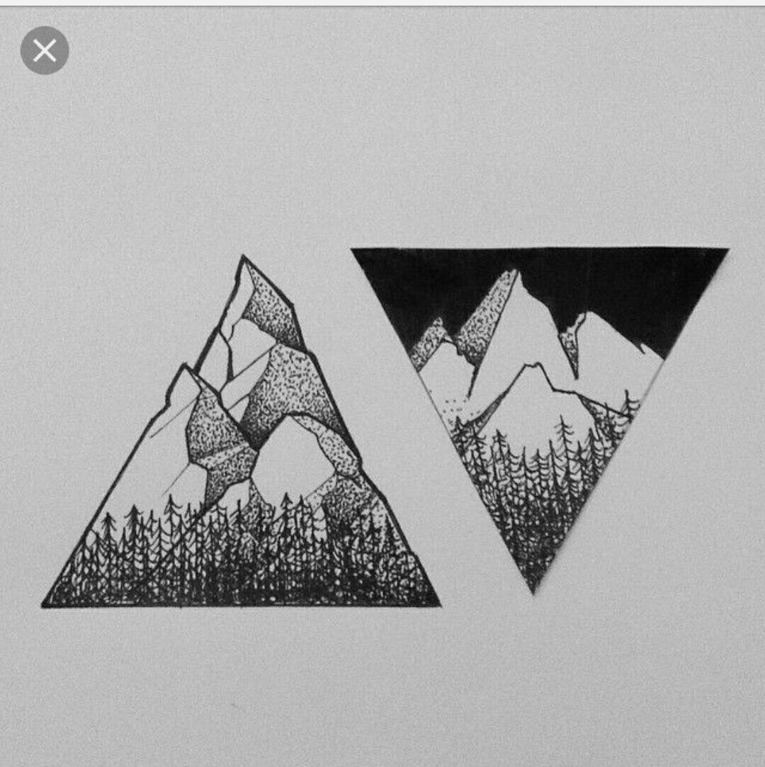 Mountain High Mountain Low Tattoo Ink Tattoos Triangle