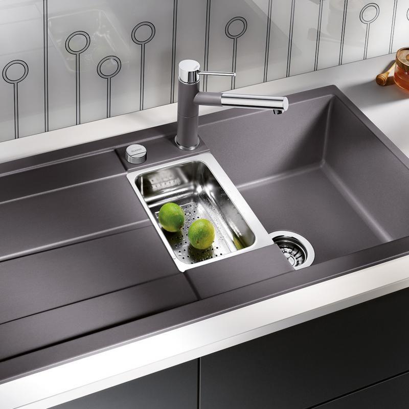 Blanco Metra 6 S Spüle Becken SILGRANIT®PuraDur® II felsgrau - spüle für küche