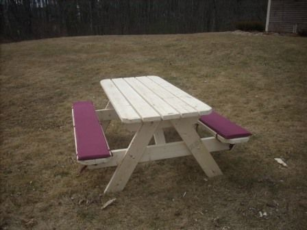Picnic Table Bench Cushions Picnic Table Picnic Table Bench Painted Picnic Tables