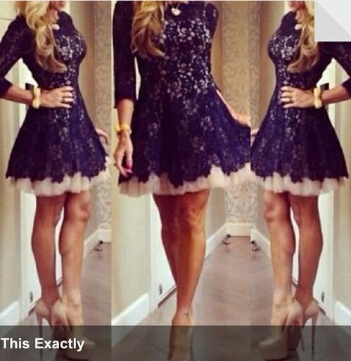 Lace short cute dress #fashion,  clothes  #lace
