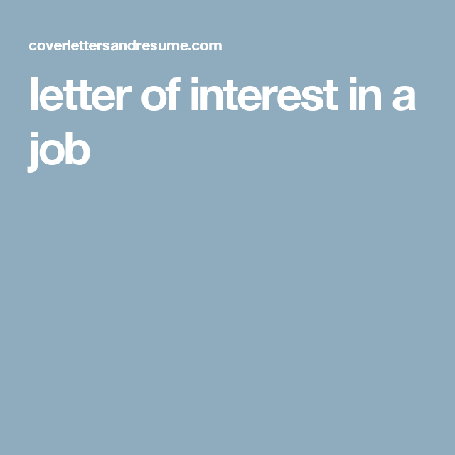 Letter Of Interest In A Job  Career Tips    Teaching