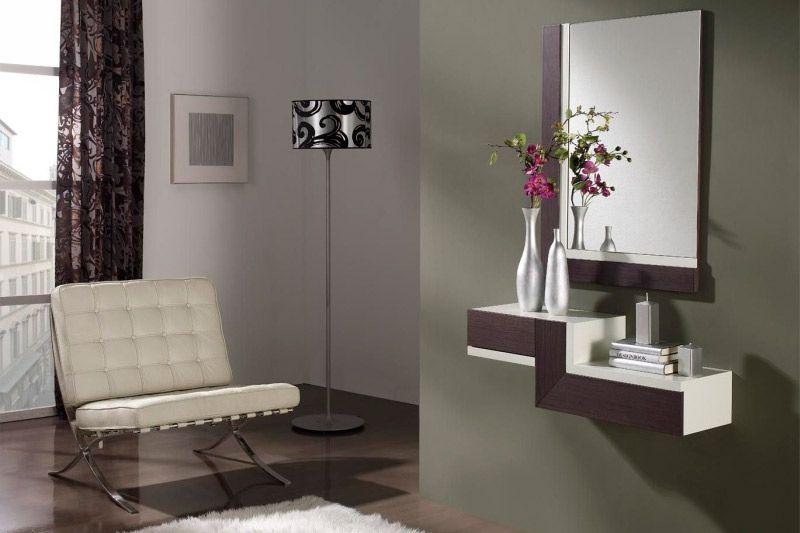 Meuble du0027entrée suspendu contemporain avec miroirs CHAGALL, coloris