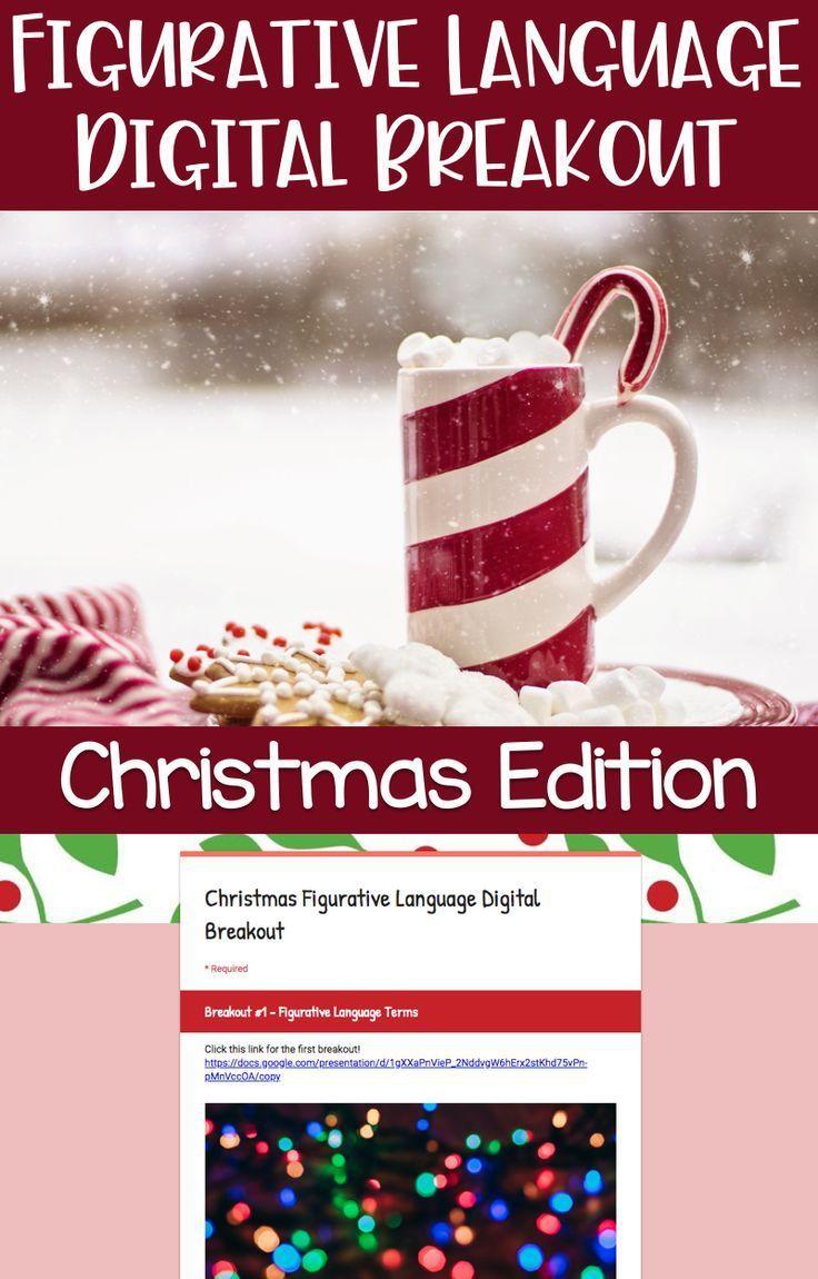 Christmas Figurative Language Digital Breakout