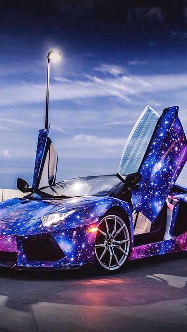Look At This Cool Galaxy Painted Car Cars Pinterest - Look at cool cars