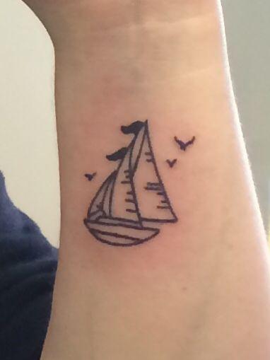 Sailboat Tattoo. Dead Tree Tattoos