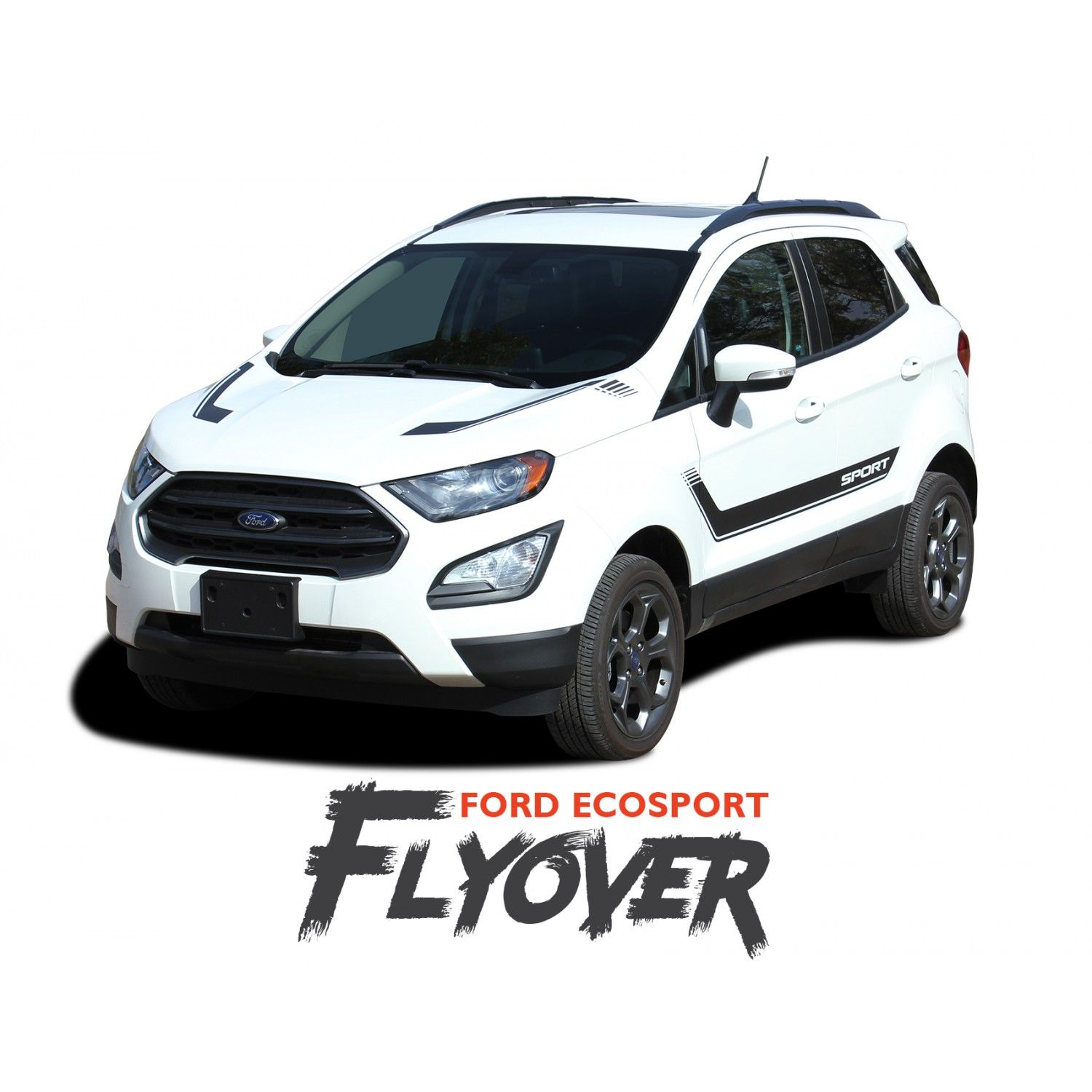 Ford Ecosport Door Stripes And Hood Vinyl Graphics Flyout Decal
