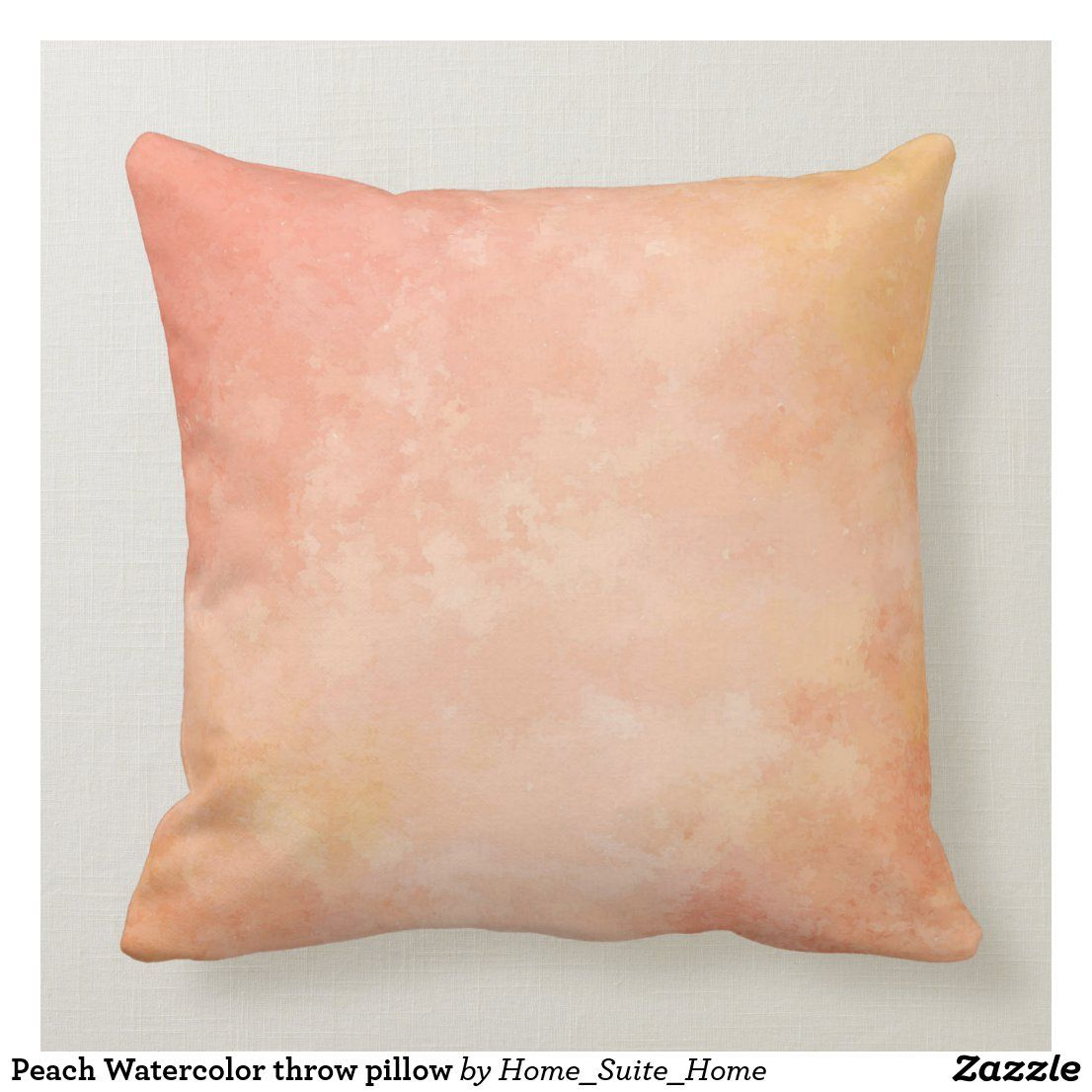Peach Watercolor throw pillow | Zazzle