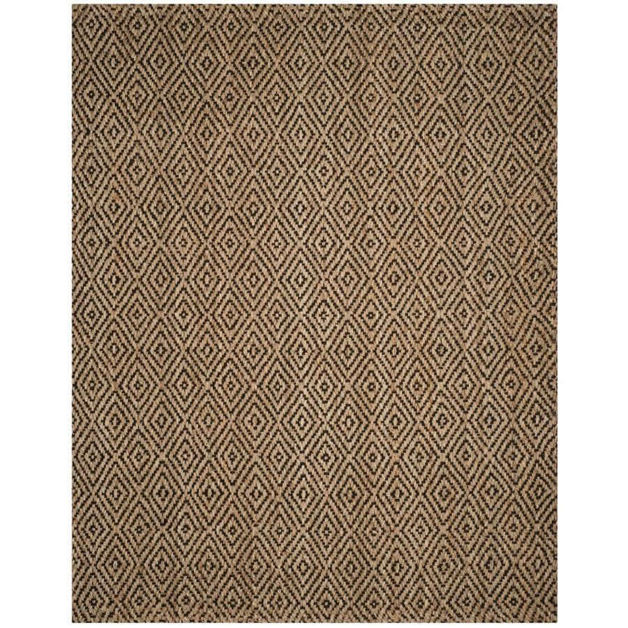 Safavieh Natural Fiber Shinnecock Natural Black Rectangular Indoor Handcrafted Coastal Area Rug Common 10 X 14 In 2020 Area Rugs Geometric Area Rug Coastal Area Rugs