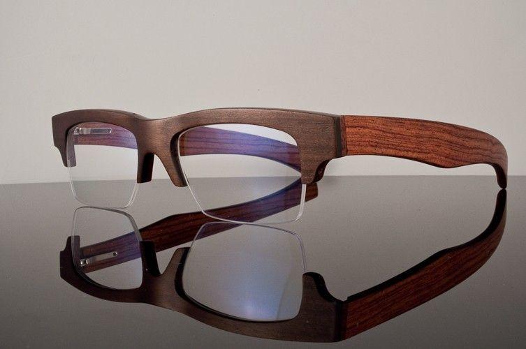 gold wood eyeglasses b142 90000 - Wood Eyeglass Frames