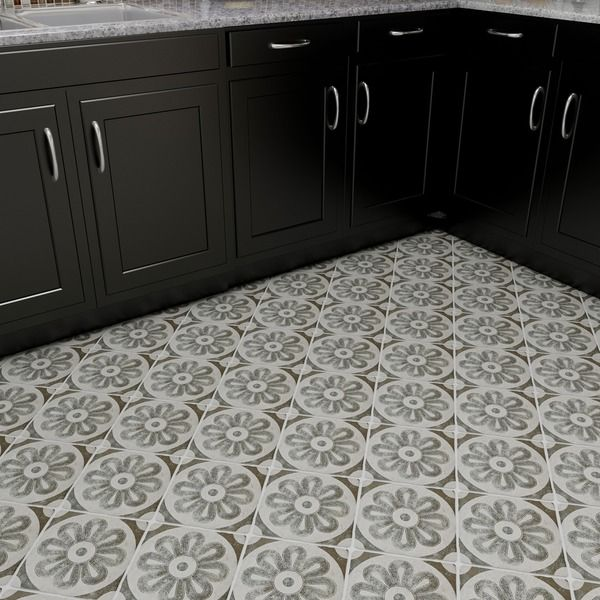 Floor And Tile Decor Somertile 775X775Inch Gavras Cendra Décor Zinnia Ceramic Floor