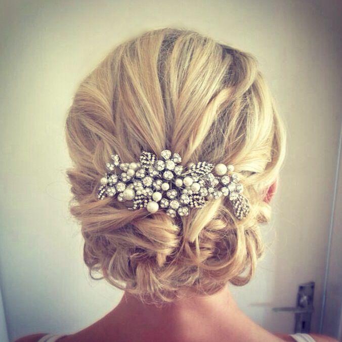 Wedding Hairstyles Examples: Vintage Loose Bridal Wedding Blonde Hair Http