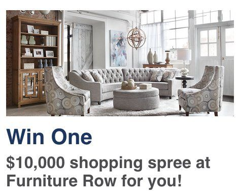 Grand Prize Is A $10,000.00 Furniture Row/Denver Mattress Shopping Spree,  Awarded As A