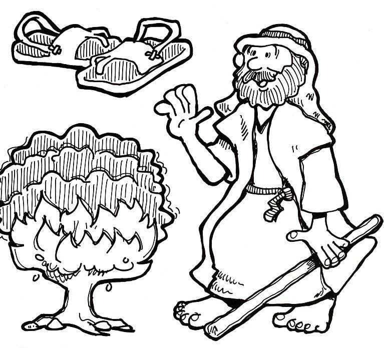 Moses Burning Bush kids bible study ideas Pinterest Burning