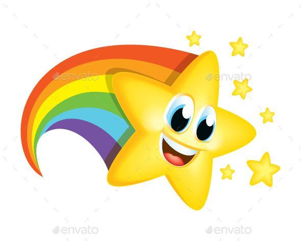 Cartoon Star With Rainbow Tail Rainbow Cartoon Art Drawings For Kids Cartoon Clip Art