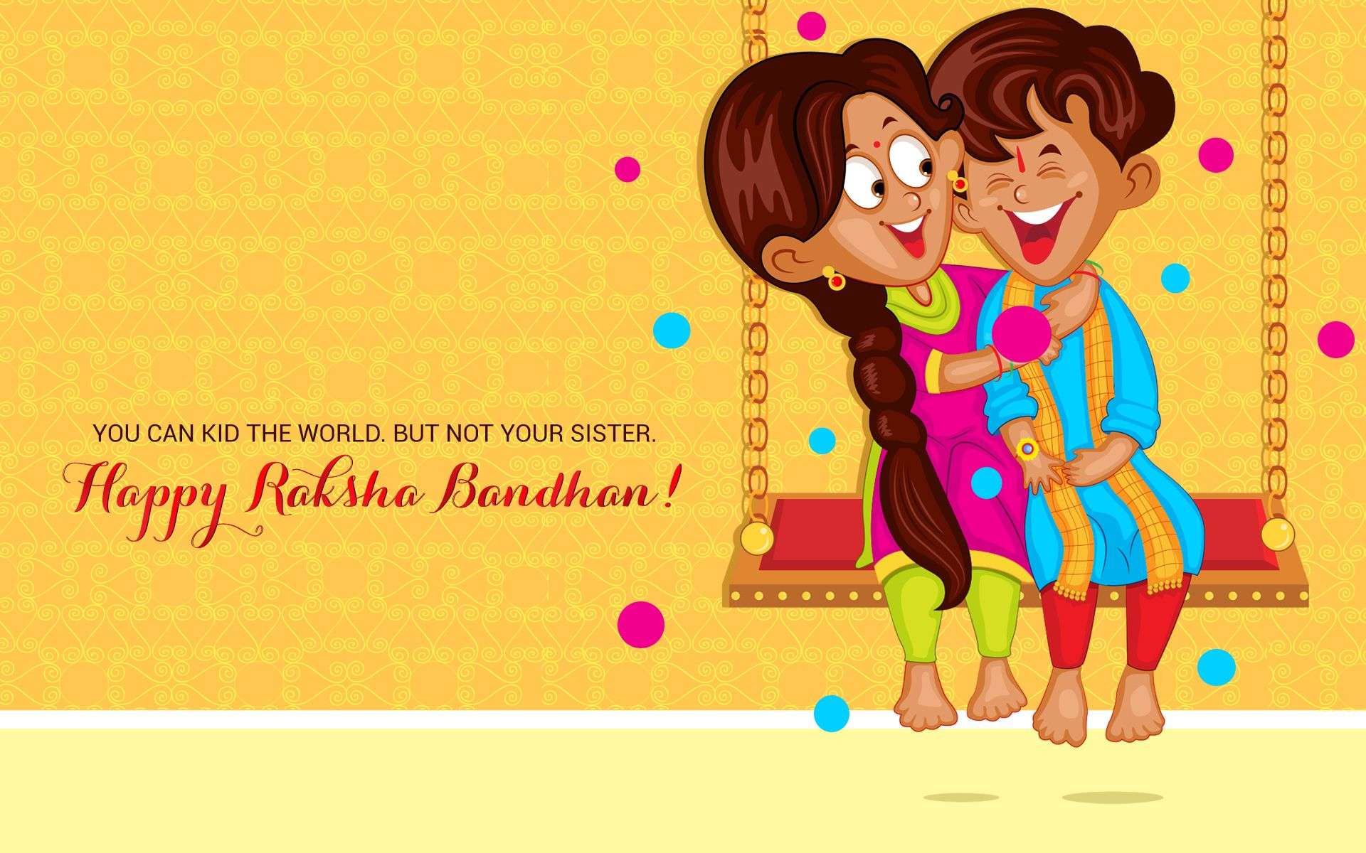 Rakshabandhan Brother Sister Hd Wallpaper Happy Raksha Bandhan