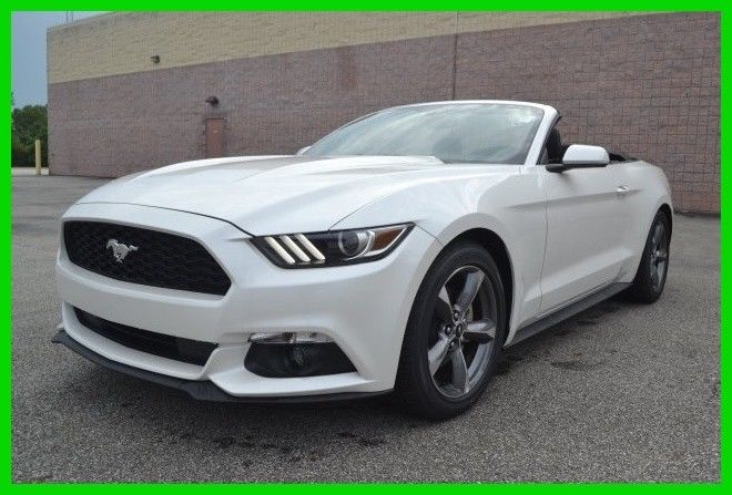 Awesome 2017 Ford Mustang V6 Convertible Automatic White Platinum Remote Start Sync 2018