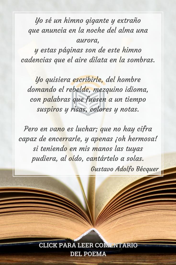 47 Ideas De Gustavo Adolfo Bécquer Becquer Poemas Gustavo Adolfo Bécquer Poemas Becquer Poesia