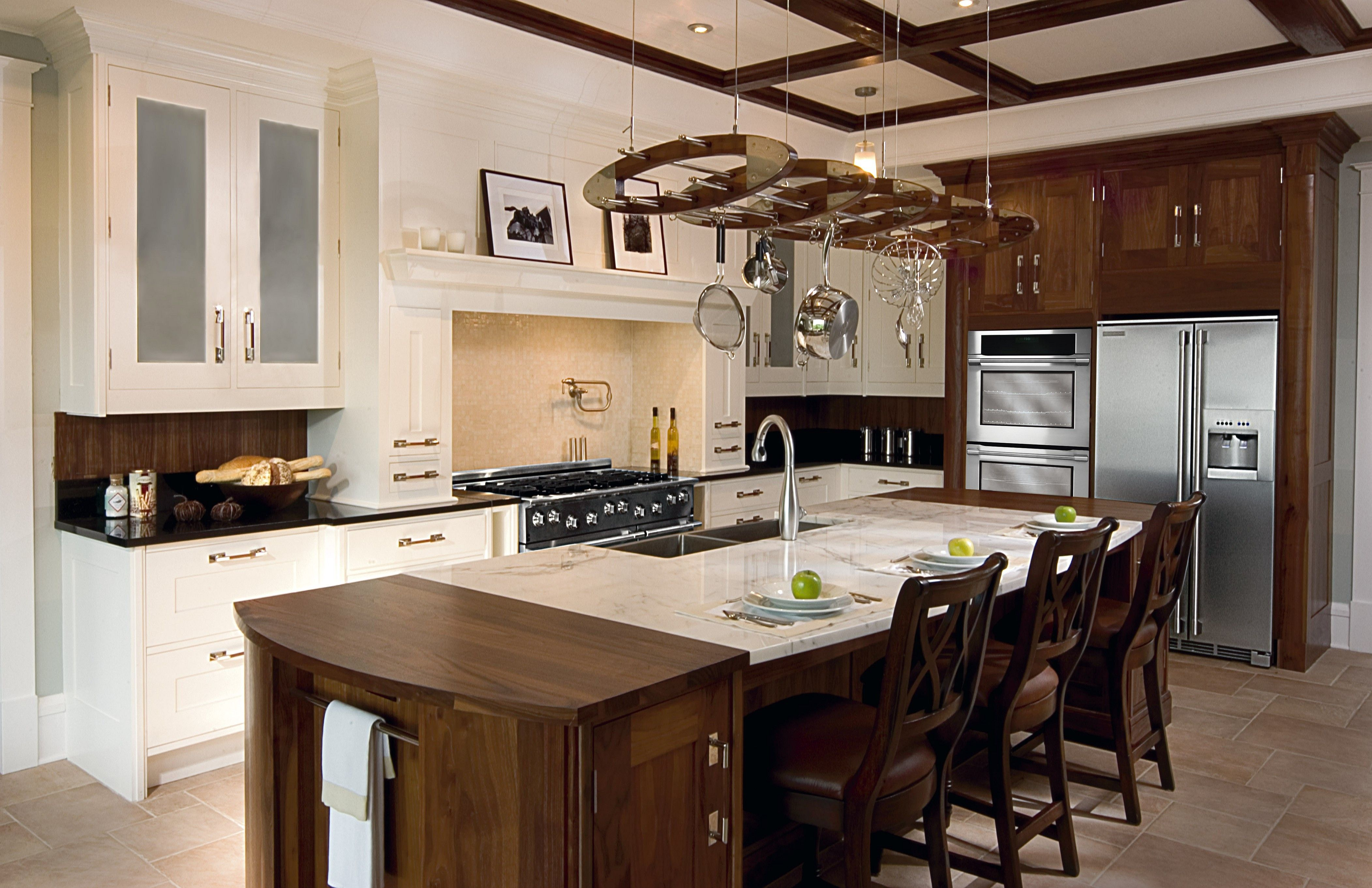 Image Result For Using Granite And Butcher Block For Island Top Black Kitchen Decor Blue Kitchen Decor Portable Kitchen Island