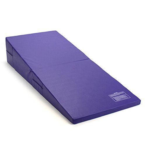 Purple Incline Wedge Ramp Gymnastics Gym Folding Exercise Aerobics Tumbling Play Mat Premium Select Outlet H Gymnastics Mats Mat Training At Home Gym