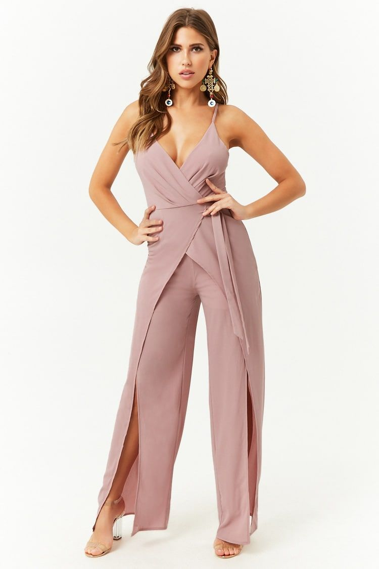 13f100bf0 Crepe Wide-Leg Jumpsuit Formal Romper, Formal Jumpsuit, Long Jumpsuits,  Jean Outfits