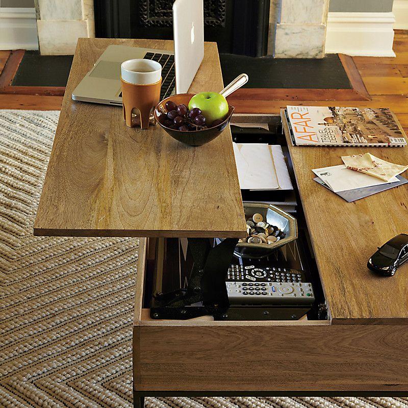Lift Top Coffee Table West Elm: West Elm Industrial Storage Coffee Table, Raw Mango