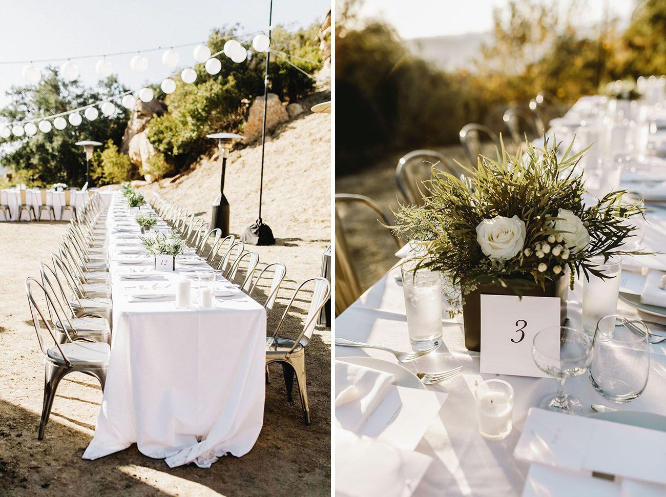 Strikingly Modern + Minimal Wedding High Above Malibu ...