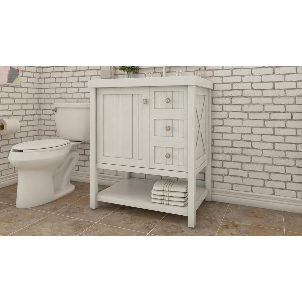 First Or Second Choice Martha Living Seal Harbor 30 25 In Vanity White With Top Sl30p2com Sg The Home Depot 399 Note Honni