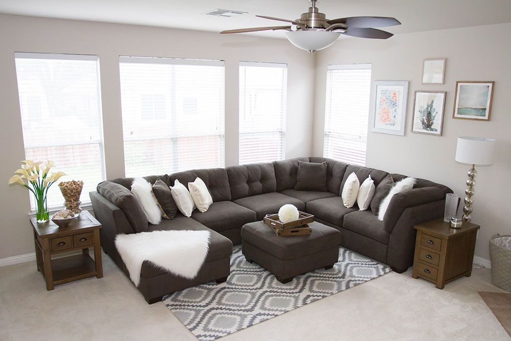 Modern Chic Comfortable And Kid Friendly The Delta Grey Sectional Sofa Is