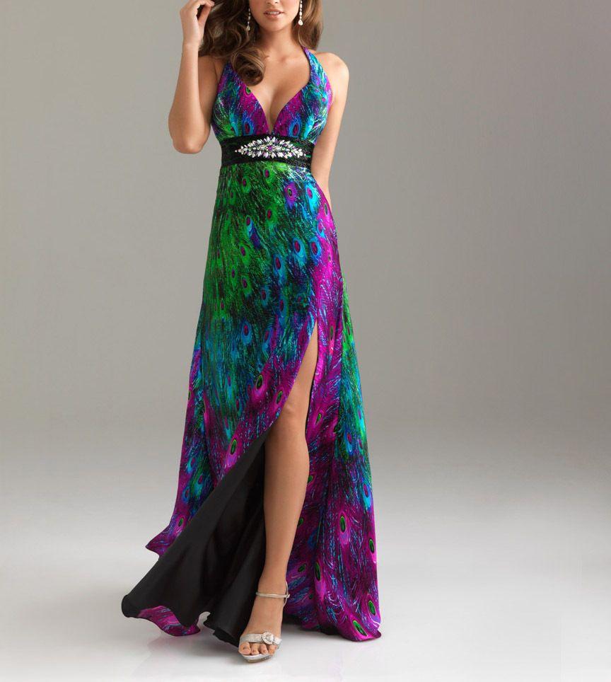 Lovely peacock strapless evening dress ball gown bridesmaid dress