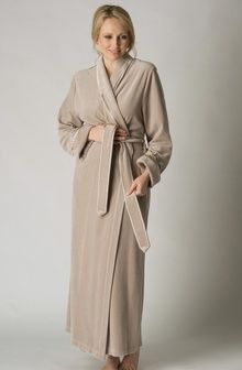 Classic cotton velour dressing gown from Feraud Paris - available ...