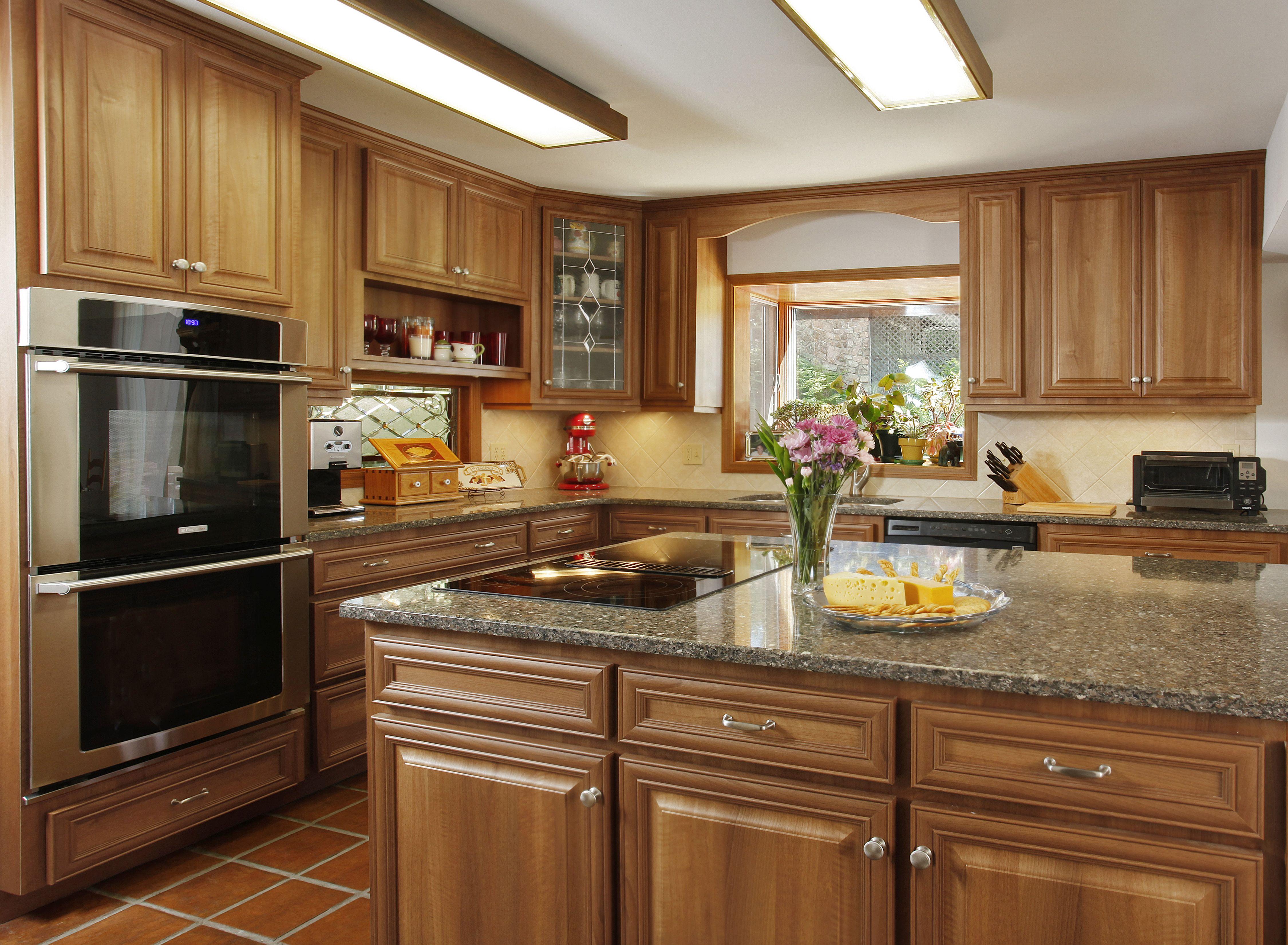 hazelnut cabinets silestone quartz countertop kitchen magic