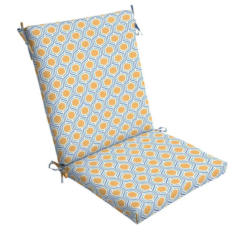 Arden Selections 20 In X 24 In Honeycomb Outdoor Chair Cushion