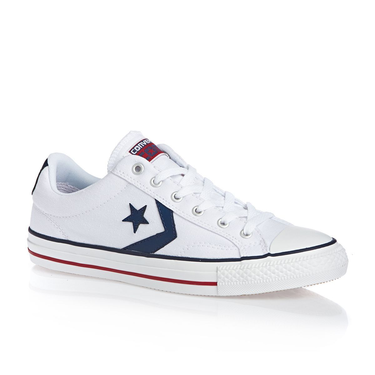 ácido Competir Civilizar  Converse Star Player Shoes - White/ White/ Navy | Converse star player,  Converse shoes, Sneakers men fashion