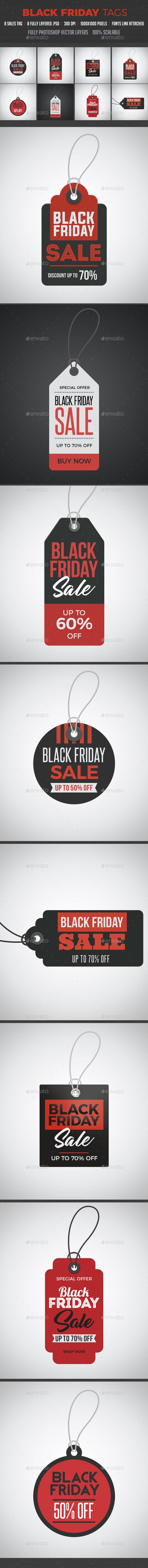 Black Friday Sale Tag  Black Friday Template And Fonts