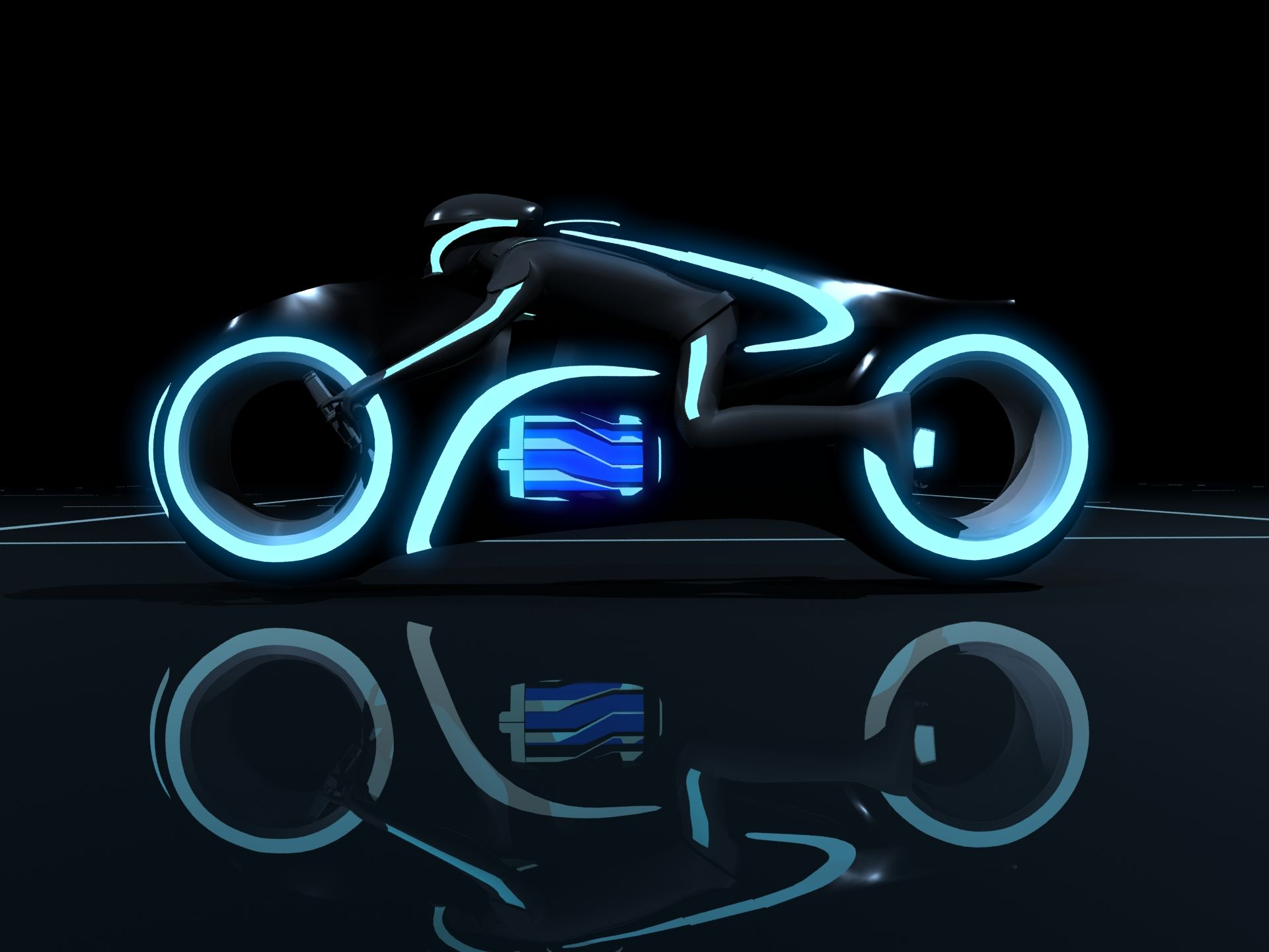 Light Cycle And Car Race From Disneys Tron Legacy Desktop HD