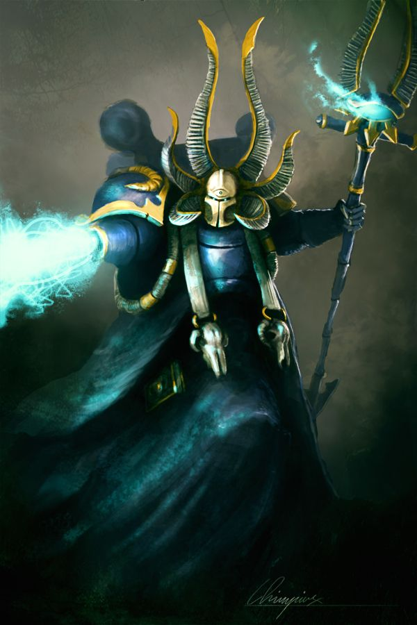 Ahriman-colored by chimpinx on DeviantArt | WH40K - Fallen Sons