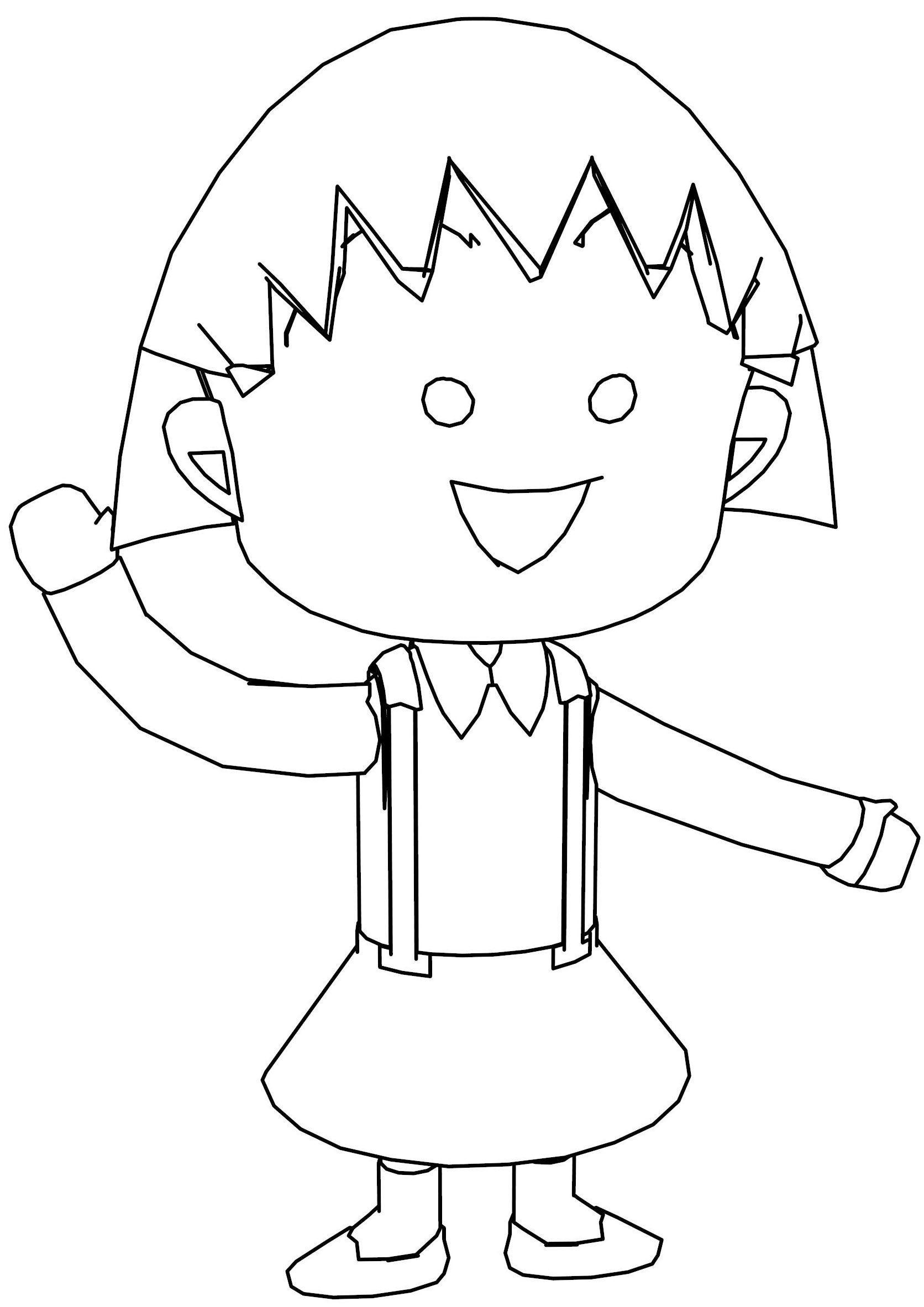 Nice Chibi Maruko Chan Coloring Page Angel Coloring Pages Jesus