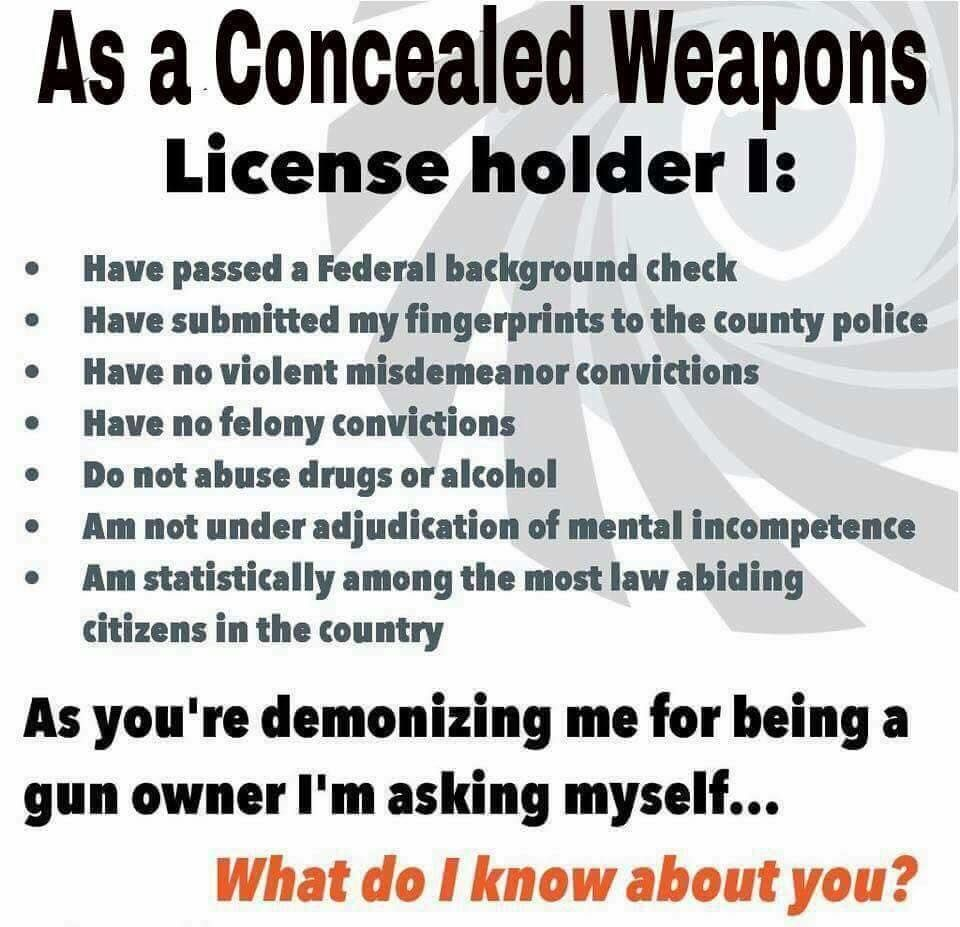 Pro Gun Quotes Here Is A Little Bit Of Info On Me Conceal & Carry Network