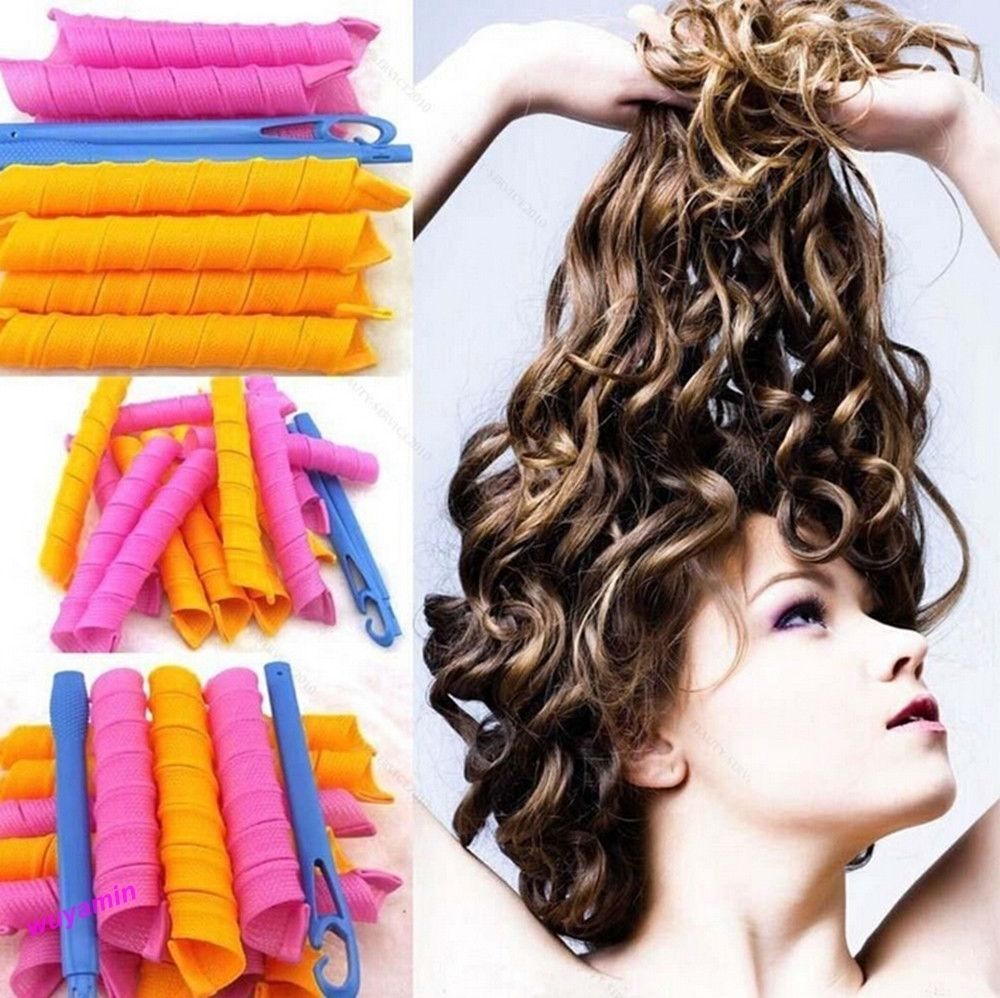 Hair Styling Rollers Diy Magic Circle Curler Leverag Stick Spiral Ringlets Curl New Diy Hair Curlers Short Permed Hair Curly Hair Diy