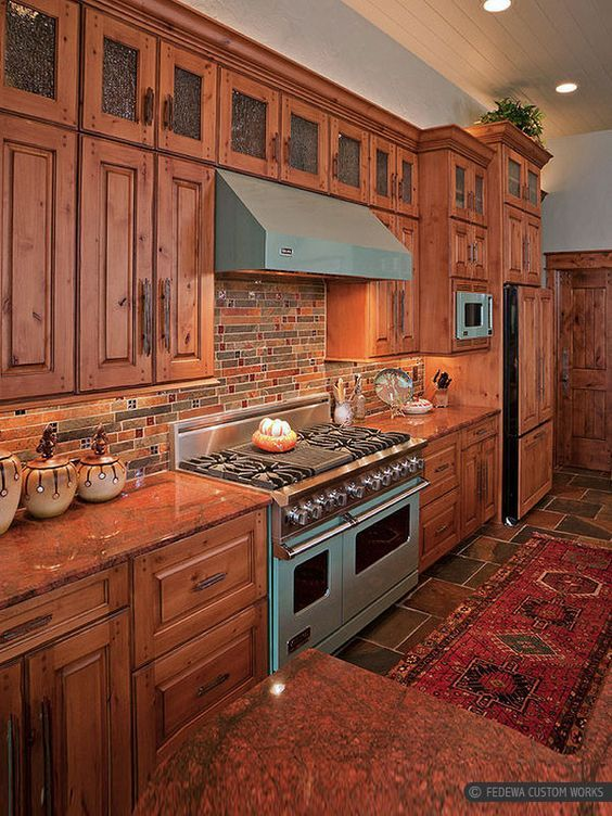 Brown Kitchen Cabinet Red Dragon Kitchen Countertop Brown Rusty Slate Kitchen Tuscan Kitchen Mosaic Backsplash Kitchen