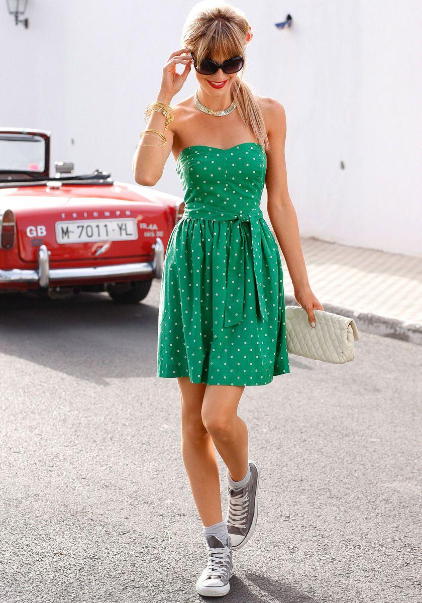 AJC Bandeaukleid #Kleid #Converse #BAUR | Nachhaltige mode ...