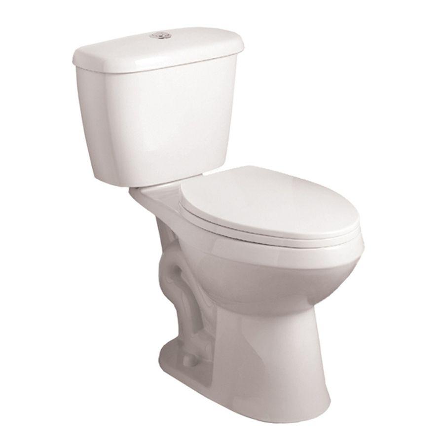 Aquasource White Gpf Lpf Rough In Watersense Elongated Dual Flush Comfort Height Toilet