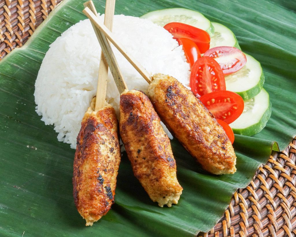Sate Lilit Ayam (Balinese Chicken Satay) | Chicken ...