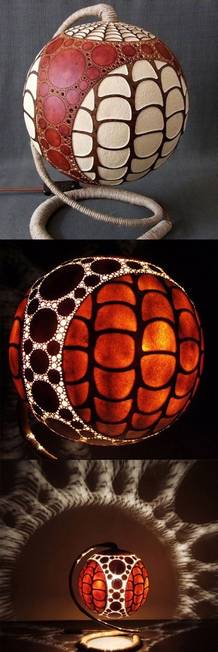 Delightful Exotic Gourd Lamps By Calabarte Nice Design